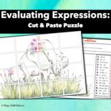 Evaluating Expressions : Cut & Paste Puzzle