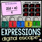 Evaluating Expressions Digital Math Escape Room