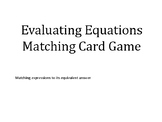 Evaluating Expressions Matching Card Game