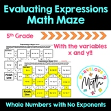 Evaluating Expressions Math Maze