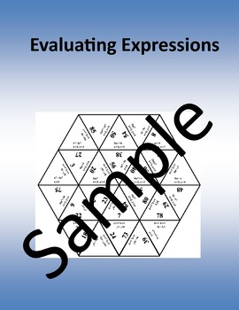 Evaluating Expressions – Math puzzle