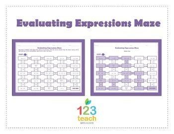 Evaluating Expressions Worksheets | Teachers Pay Teachers