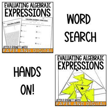 Evaluating Algebraic Expressions Lesson Bundle