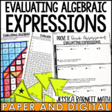 Evaluating Algebraic Expressions Resources - Lesson Bundle