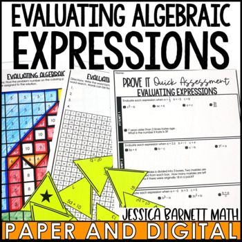 Evaluating Expressions Lesson Bundle