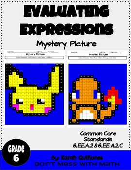 Evaluating Expressions - Mystery Picture