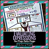 Evaluating Expressions No Prep Note Page
