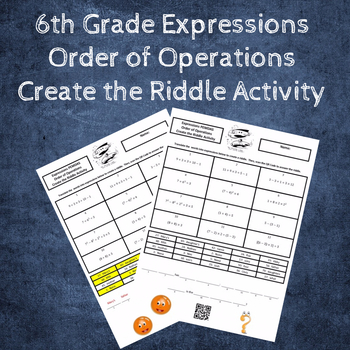 Evaluating Expressions:  PEMDAS Order of Operations Create the Riddle Activity
