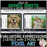 Google Sheets Digital Pixel Art Math Evaluating Algebraic
