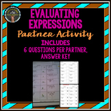 Evaluating Expressions: Partner Activity
