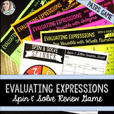 Evaluating Expressions Review Game