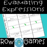Evaluating Expressions Row Games