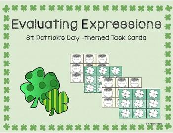 Evaluating Expressions - St. Patrick's Day-themed Task Cards