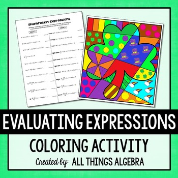 Evaluate Expressions Activity & Worksheets | Teachers Pay