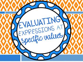 Evaluating Expressions at Specific Values {REVEIW}