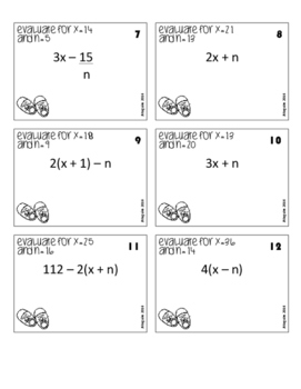 Evaluating Expressions - multi-variable - You Got Stomped Math Game
