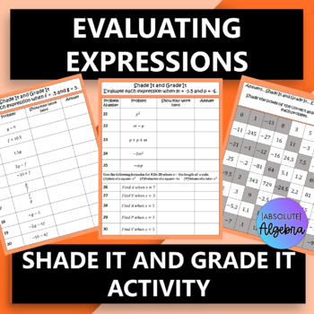 Evaluating Expressions using Decimals and Negative Numbers, and Word Problems