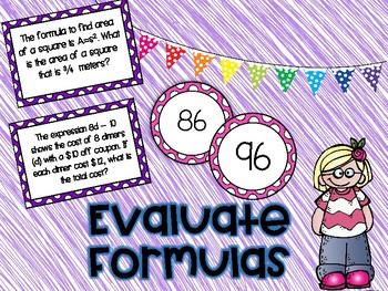 Evaluating Formulas