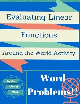 Evaluating Linear Functions Around the World Activity-Word