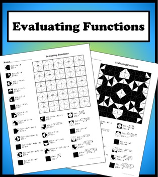 Evaluating Functions Color Worksheet