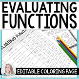 Evaluating Functions Coloring Page