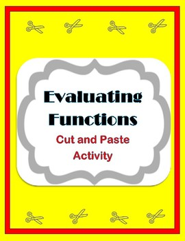 Evaluating Functions Cut and Paste Activity