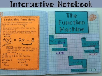 Evaluating Functions Foldable, INB, Practice, and Exit Ticket
