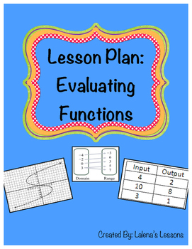 Evaluating Functions Lesson Plan