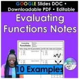 Evaluating Functions Notes