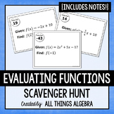 Evaluating Functions Scavenger Hunt