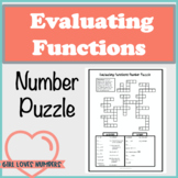 Evaluating Functions Number Puzzle