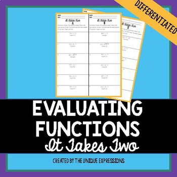 Evaluating Functions Partner Activity