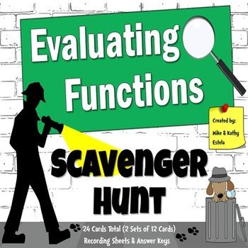Evaluating Functions {Scavenger Hunt}
