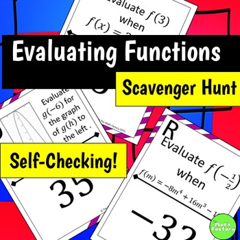 Evaluating Functions Scavenger Hunt Activity By The Math Factory