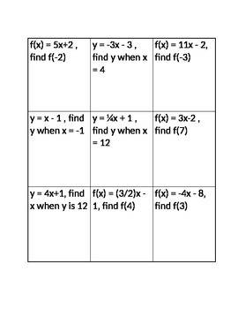 Evaluating Functions Tic Tac Toe