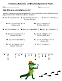 Evaluating Functions and Function Operations Puzzle