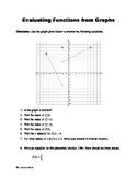 Evaluating Functions from Graphs Worksheet