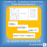 Functions III - Evaluating Functions from Three Representations A