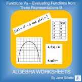 Evaluating Functions from Three Representations B