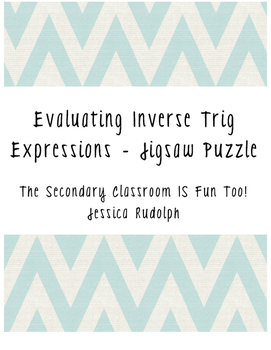 Evaluating Inverse Trig Expressions Puzzle