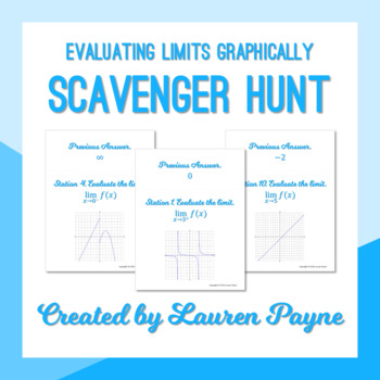 Evaluating Limits Graphically Scavenger Hunt