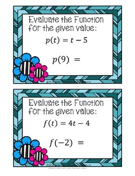 Evaluating Linear Functions Boom Cards--Digital Task Cards
