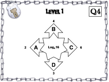 Evaluating Logarithms Activity: Algebra Escape Room Math