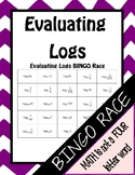 Evaluating Logarithms BINGO Race