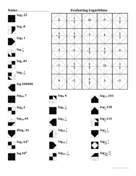 Pictures Logarithms Worksheet - Toribeedesign