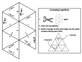 Evaluating Logarithms Game: Math Tarsia Puzzle