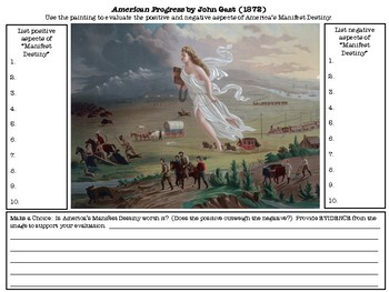 Evaluating Manifest Destiny: American Progress