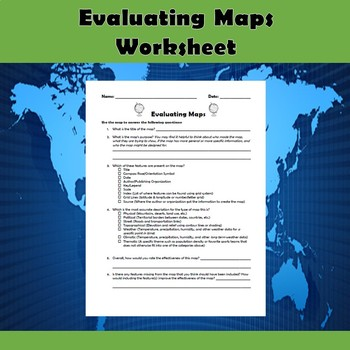 Evaluating Maps TODALSIGS Worksheet