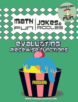 Evaluating Piecewise Functions FUNsheet