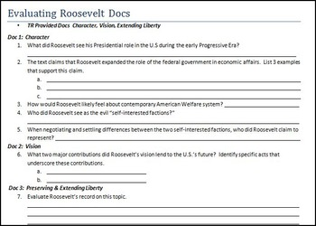 Evaluating President Teddy Roosevelt